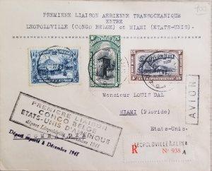 O) 1941 BELGIUM CONGO, FIRST AIR LINK, TRANSOCEANIC,   BETWEEN LEOPOLDVILLE A MI