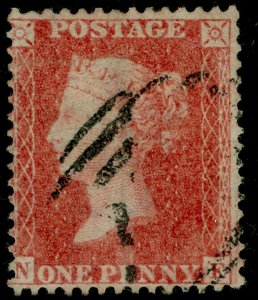 SG38, 1d pale red PLATE 56, LC14, FINE USED. Cat £35.