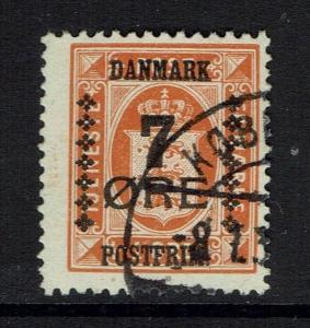 Denmark SC# 185, Used, Hinge Remnant -  Lot 032117