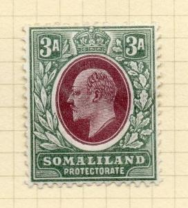 Somaliland Protectorate 1904 Early Issue Fine Mint Hinged 3a. 297793