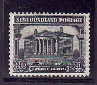Newfoundland id.#7068-Sc.#157-20c Colonial Building-unused NH-1928-