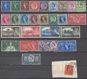COLLECTION LOT OF #1071 GREAT BRITAIN 27 STAMPS 1952+ CV+$31