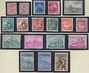 Belgium Stamps Scott #374 To 385, Mint Hinged/Used, Complete Set - Free U.S. ...