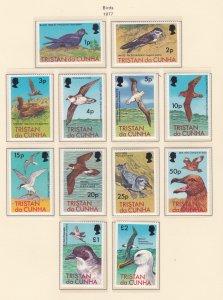 Tristan Da Cunha # 222-233, Birds, NH, 1/2 Cat.