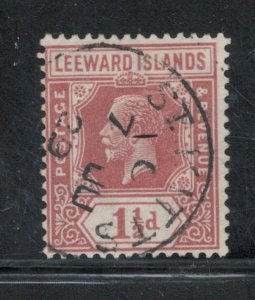 Leeward Islands 1929 King George V 1 1/2p Scott # 66 Used