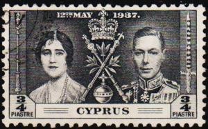 Cyprus. 1937 3/4pi S.G.148 Fine Used