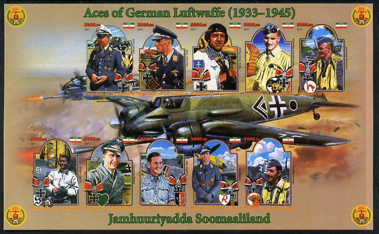 Somaliland 2011 Air Aces of the German Luftwaffe (WW2) im...