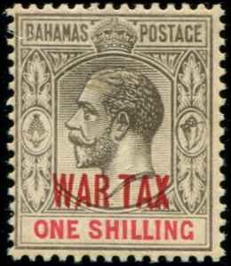 Bahamas SC# MR8 SG# 99 War Tax 1shilling MVLH
