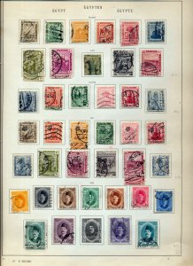 EGYPT 1914/36 M&U Collection on Old Pages(Appx 120)Inc.Airs(NS87