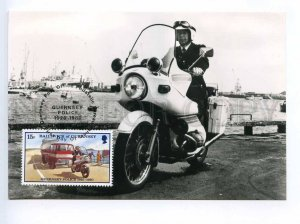 241422 Guernsey POLICE motorcycle 1980 year maximum card