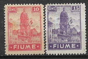 COLLECTION LOT #711 FIUME # 30a-31 MH 1919 CV+$ 27