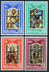 Gibraltar 334-337,MNH.Michel 342-345. Christmas 1976.Holy Family window.