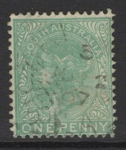SOUTH AUSTRALIA SG175a 1895 1d GREEN USED