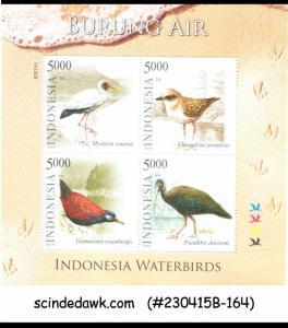 INDONESIA - 2014 WATERBIRDS / BIRD - MINIATURE SHEET MINT NH
