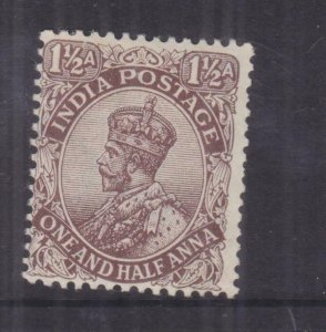 INDIA, 1919 KGV, Large Star, 1 1/2a. Chocolate, lhm.