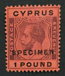 MOMEN: CYPRUS SG #102s 1924-28 SPECIMEN MINT OG H LOT #191692-341