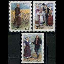 ALAND IS. 1993 - Scott# 75-7 Folk Dresses Set of 3 NH