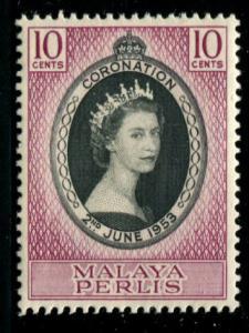 MALAYA-PERLIS 28 MNH 1953 Coronation