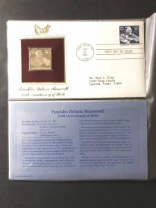 US #1950 and Gold-Plated Stamp