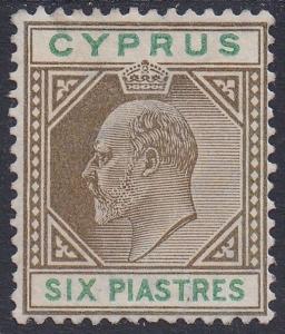 CYPRUS 1904 KEVII 6PI WMK MULTI CROWN CA