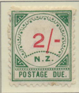 New Zealand Stamp Scott #J11, Unused, No Gum, Toning, Large NZ - Free U.S. ...
