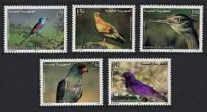 Yemen Bustard Vulture Roller Starling Goshawk Birds 5v SG#220-224