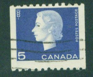 CANADA Scott 409 Used 1962 QE2 coil stamp CV $0.80