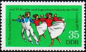Germany(DDR). 1977 35pf  S.G.E1960 Unmounted Mint
