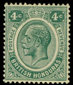 BRITISH HONDURAS SG130, 4c grey, LH MINT. Cat £22.