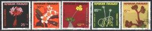Madagascar. 1975. 748-52. Flowers, flora. USED.