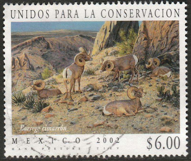 MEXICO 2250, Wildlife Conservation Cimarron Ram. USED. F-VF. (1497)