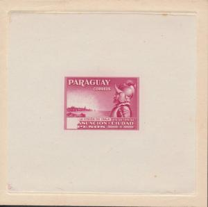 PARAGUAY #396E LARGE DIE ESSAY ON INDIA PAPER BR2655 HSFP