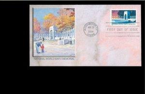2004 FDC World War II Memorial Washington DC