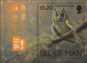 Isle of Man 1997,Owls MNH S/Sheet # 733