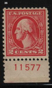 1920 Sc 528 MHR Type Va plate number single FVF, Hebert CV $30