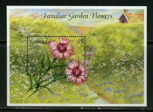 GRENADA  FAMILIAR GARDEN FLOWERS SOUVENIR SHEET II  MINT NH