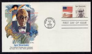 US 1845 Igor Stravinsky Fleetwood U/A FDC