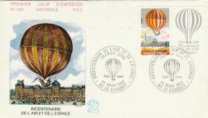 FRANCE - 1983 Yv.2262 enveloppe 1er jour FDC Bicentenaire Air & Espace (P.J)