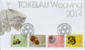 Tokelau 2014 FDC Weaving 4v Set Cover Culture Taulima Pupu Tapili Ato