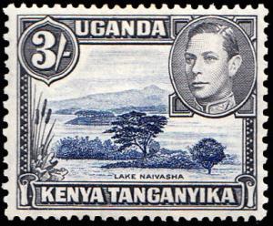 Kenya Uganda & Tanganyika Scott 82 Unused lightly hinged.