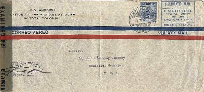 Colombia 1944 Postal History