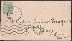 JAMAICA 1903 QV ½d on cover Port Antonio to Canada.........................54786