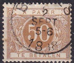 Belgium #J8 F-VF Used CV $5.00 (Z9300)