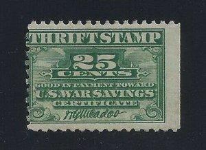 WS1 - 25c Misperf Error / EFO War Savings Thrift Stamp Mint NH Read