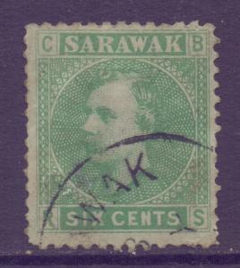 Sarawak Scott 5 - SG5, 1875 Sir Charles Brooke 6c used