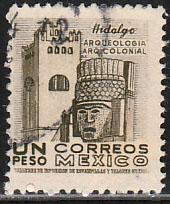 MEXICO 882b, $1Peso 1950 Definitive 2nd Printing wmk 300. USED. F-VF. (1411)
