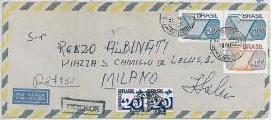 BRAZIL - POSTAL HISTORY - oversize COVER to ITALY 1973
