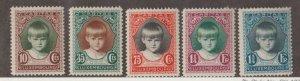 Luxembourg Scott #B35-B39 Stamps - Mint Set