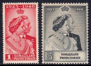 Somaliland Protectorate - Scott #110-111 - MLH - Toning - SCV $7.00