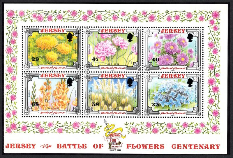 Jersey Centenary of 'Battle of Flowers' Parade Booklet Pane T2 SG#1053a